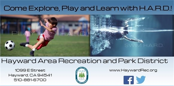 Hayward Area Recreation and Park District Banner