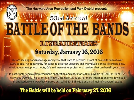 53rd Annual Battle of the Bands Live Auditions